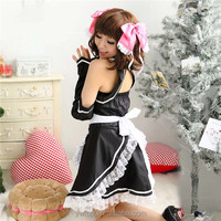 Sexy Anime Cosplay Costume Maid Games Themes Role Playing Sexy Lingerie Cute Halloween Dress