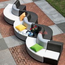 Luxury classic european patio curve sofa set outdoor furniture