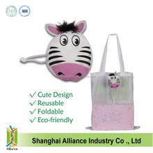 Zebra Animal Printing Folding Shopping Bag