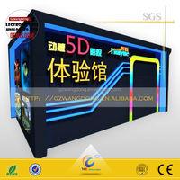 Startling Mobile Mini 5D Cinema , 5D Theater Hydraulic , Dynamic Cinema