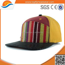 design your own 5 panel hat cap with leather brim custom print 5 panel caps wholesale