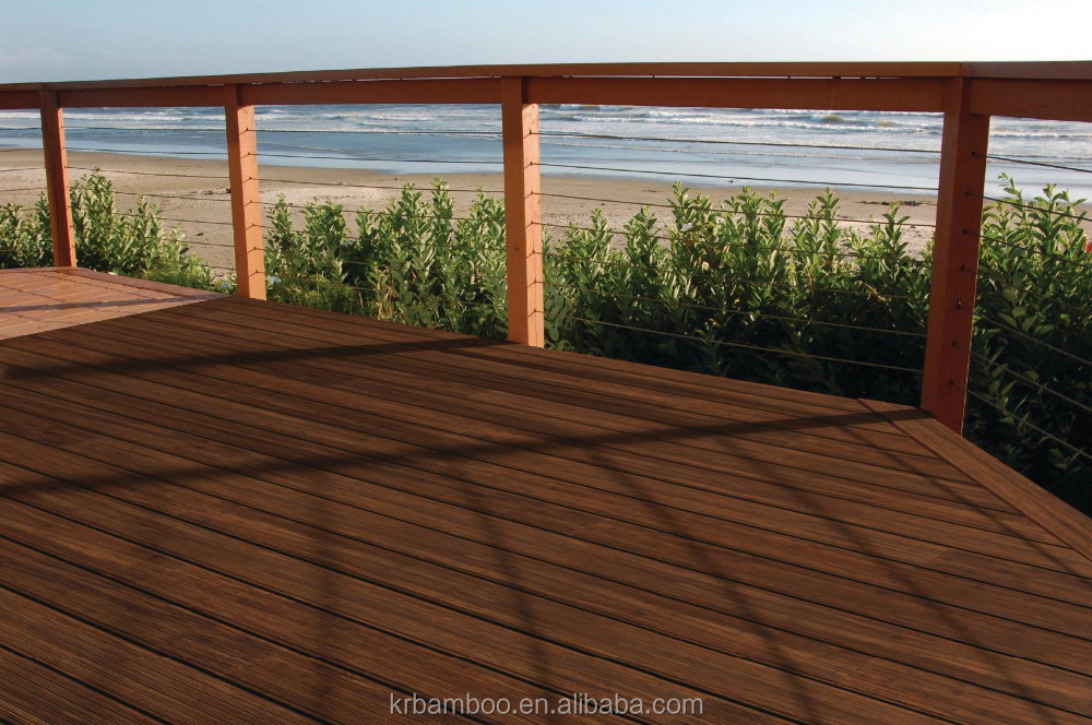 Water Resistant Moisture Proof Bamboo Decking Flooring