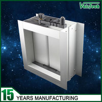 aluminum motorized damper ventilation for hvac ducting system