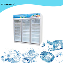 glass 3 door visi flower display cooler