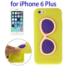 3D case cover for iPhone 6 Plus with glasses style