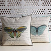 Hot sale wrap edge butterfly outdoor car seat cotton/linen sublimation cushion cover wholesale