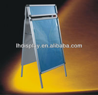 display stand roll up banner poster board with fore head double side for advertising