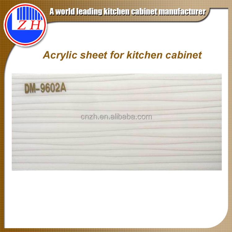 Guangzhou zhihua milky white 1mm corian acrylic sheet for for Acrylic sheet for kitchen cabinets