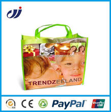 Fashionable high quality waterproof pp woven shopping bag supplier
