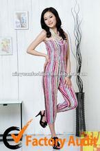 Slim ladies stripes fashion trousers