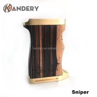 Hot sale wooden sniper full mechanical box mod vaporizer clone sniper box mod