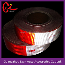 OEM high quality good refleting diamond grade red and white reflective waring tape