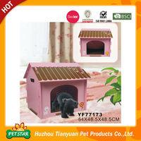 Simple Design Pink Wood Dog Crate