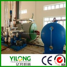 Low operation temperature waste lubricant renewable plant in vacuum