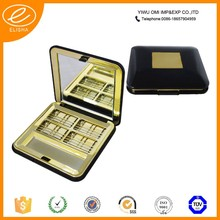 Gold luxury cosmetic packaging empty compact powder container