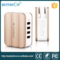 2015 hot high quality travel use 5V power adapter 4 ports multi usb wall charger