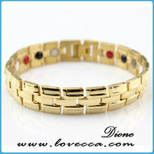 Bio Magnetic Energy Bracelet Custom Design Engraved New Products 2015 Jewelry Men Bracelet