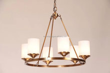 The Round Chandelier Small - Rustic Plain features with 6 candelabra bulbs