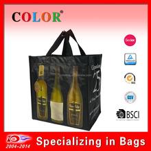 High quality wine bag/6-bottle wine bag/wine bag holder