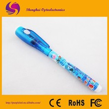 UV light pen / ballpoint pen with UV light / uv invisible ink pen