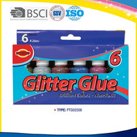Factory price high quality assorted colors glitter glue glitter glue using