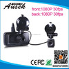 2015 new ambarella chipset 2.7'' car video registrator with dual lens front and back