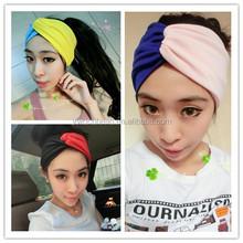 hot sell Women's Fashion Fall Accessory women Knitted cotton Headband Wide Bow Ear Warmer 201510291