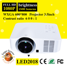 low power consumption wifi projector 35mm hd led mini projector infocus with AV/HDMI/USB