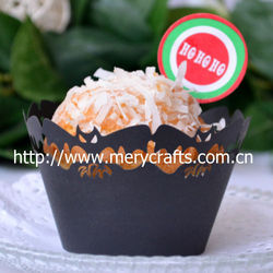 """2013 hot sale """"bat"""" design for Halloween cupcake wrappers cake decoration"""