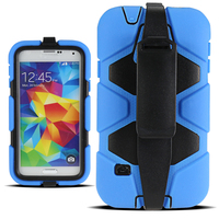 Smart phone kickstand holster cases for samsung galaxy S5 mobile phone cover