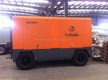 top grade air end economic diesel mobile air compressor for electric power