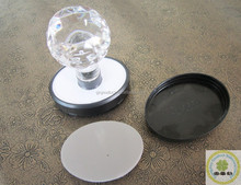 Round Model flash stamp crystal mount handle