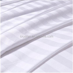 100% cotton dobby ordinary mercerising bleached white hotel linen/bedding set fabric