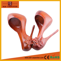 High quality creative modern Rosewood sexy high heels creative art minds wood crafts product