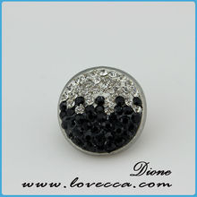 Fashion Snaps jewelry rhinestone button charms fit all snaps jewelry accessory, crystal rhinestone buttons flat back