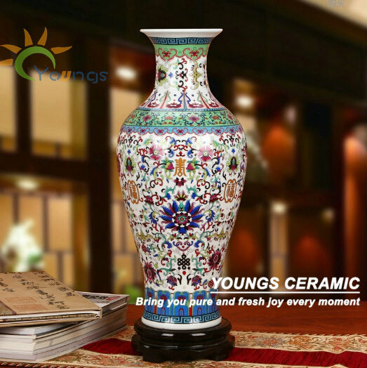 Unique Chinese Large Floor Blue Ceramic Flower Vases Wholesale View