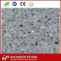 crystal shining light grey quartz stone,slabs,countertop,quartz surfaces ck2812
