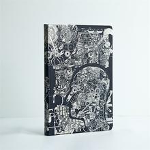 Hard cover notebook - silver card - Machine Culture - future fantastic style
