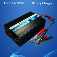 3 stage charging 24v 10a float battery charger 220v-240v ac input for car battery
