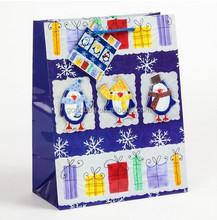 fancy paper Merry Christmas shopping bag, MJ-CN051-Y, Guangzhou Supplier