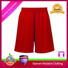 Cheap customized basketball shorts Red Jersey mesh basketball shorts wholesale in China