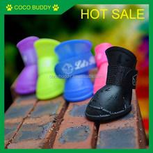 Factory direct sale Waterproof Pet shoes , Dog shoe boots 2 pairs / bag