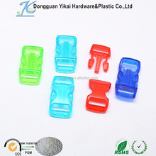 10mm small plastic buckle,clear handbag buckle,side release buckle