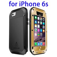 LOVE MEI Metal Ultra-thin Waterproof Dustproof Shockproof Case for iPhone 6s