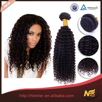Full stock high quality 6a short hair brazilian kinky curly remy hair weave