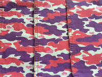 real wax print fabric of 98%cotton 2% spandex textile denim fabric made in china