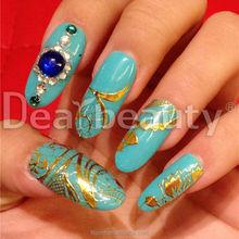 Ouro adesivos para nail art