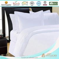 white solid color super soft hotel dubai bed sheet set