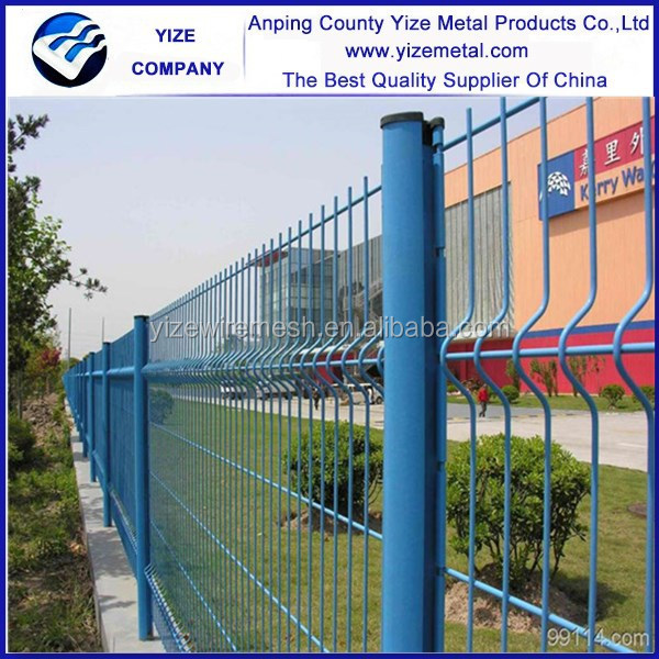 2.5m Width Curves Pvc Portable Fence Panels/powder Coated Green 4mm ...
