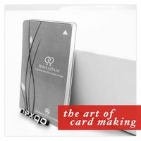 CR80 standard size double sided 4 color printing rewritable magnetic stripe smart card maker